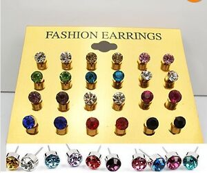 24PCS-X-CZ-Crystal-Earring-Stud-Wholesale-Mixed