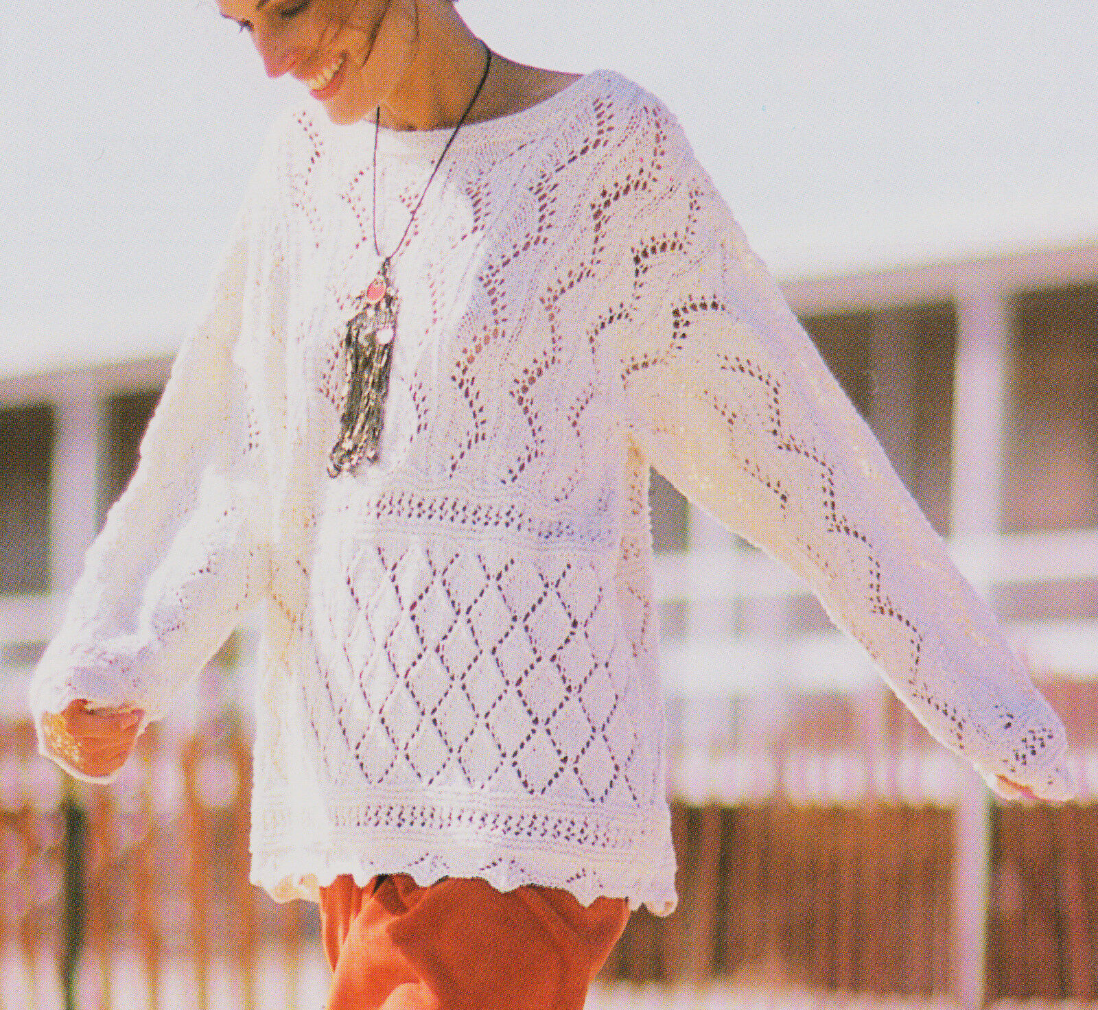 Lace Sampler Summer Sweater Knitting Pattern
