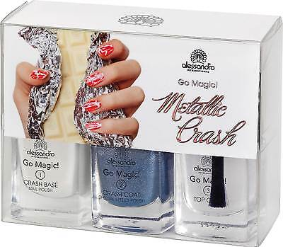 (86,33€/100ml)alessandro NAGELLACK METALLIC CRASH - BLUE MARINE*NEU+OVP*