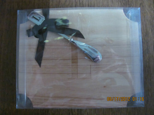 Mud Pie Rubberwood Initial cutting cheese board with spreader $24.99 260216