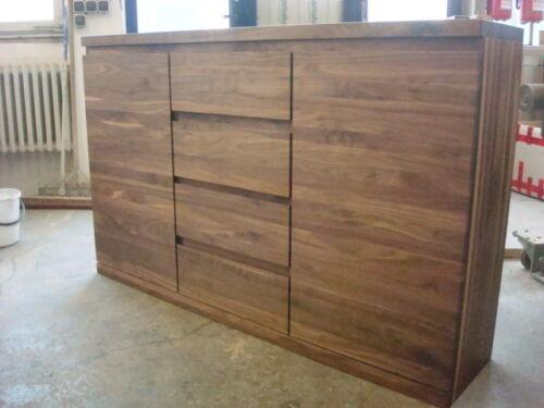 massm bel sideboard highboard in amerik nussbaum massiv. Black Bedroom Furniture Sets. Home Design Ideas