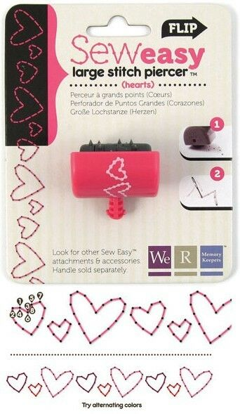HEART Sew Easy Large Stitch Piercer Head - We R Memory Keepers