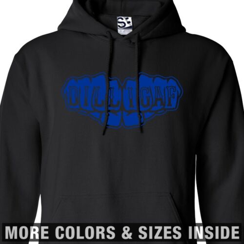 DILLIGAF Fists HOODIE Hooded Knuckle Tattoo Biker Sweatshirt  All Sizes /& Colors