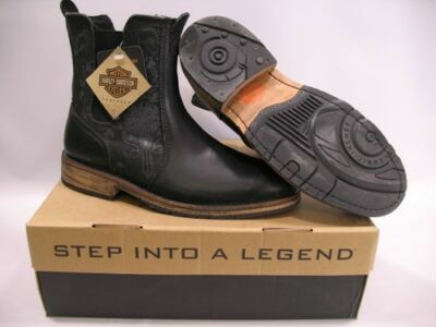 Harley Davidson Hempstead Leather Pull-On Motorcyle Riding Boots MENS SIZE 8