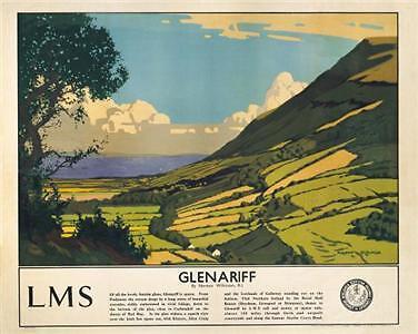 Irish Poster, Glenariff, County Antrim Northern Ireland