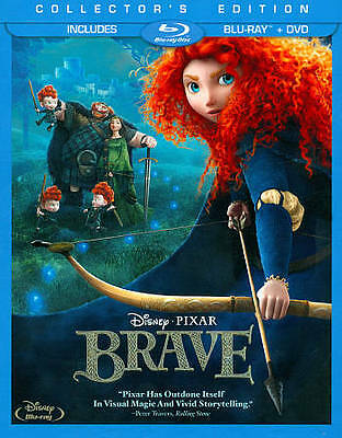 Brave (Blu-ray/DVD, 2012, 3-Disc Set, Collector's Edition) WALT DISNEY