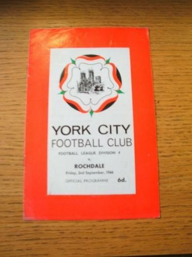 02091966 York City v Rochdale Score Noted. No obvious faults, unless descri
