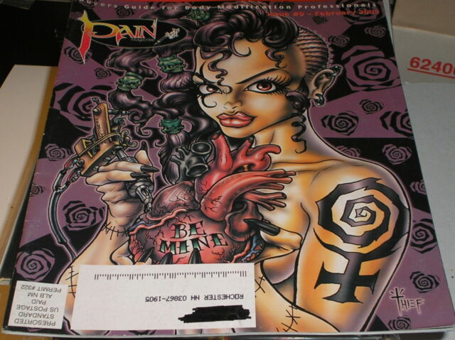 PAIN Magazine .  feb. 2003 .  buyers guide for Body Modification Professionals
