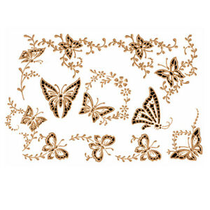 Abc Designs 9 Cutwork Butterflies Machine Embroidery Designs Set 5
