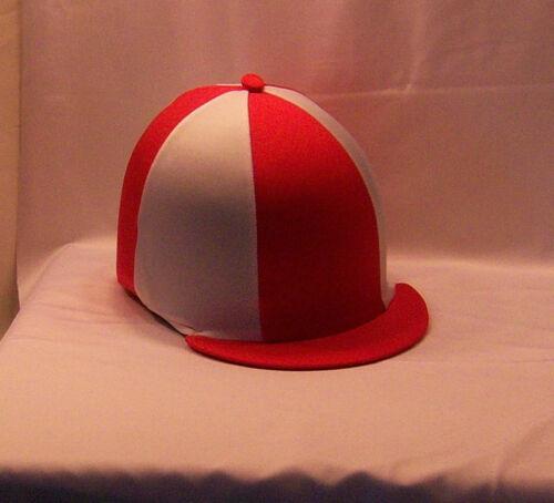 Chapeau Équitation Housse-rouge /& blanc
