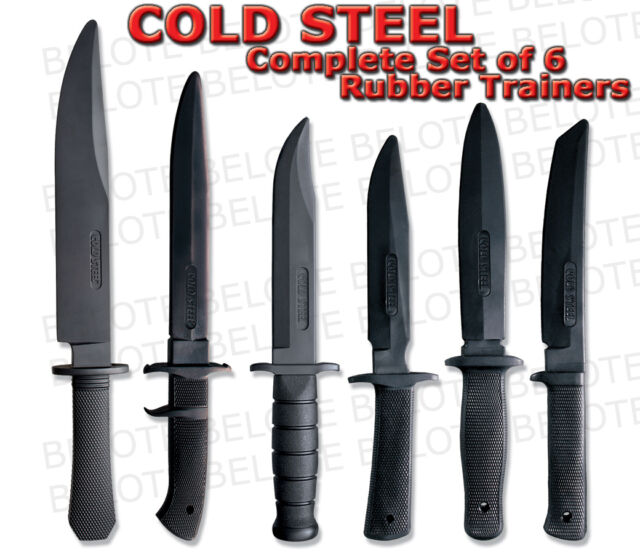 Cold Steel Rubber Training Practice Knives Set of 6 Includes NEW Laredo Trainer