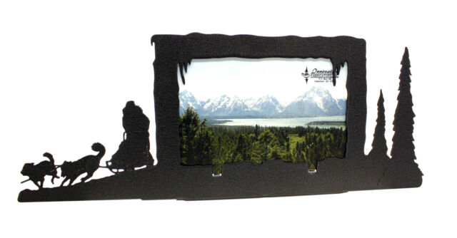 """Dog Sled Picture Frame 4""""x6"""" H"""
