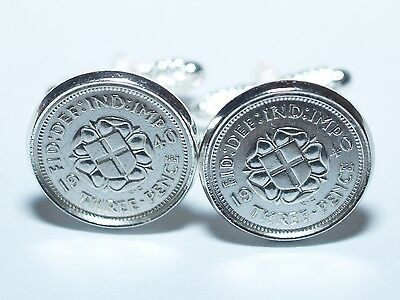 1939 78th Birthday Silver threepence coin cufflinks - Great gift idea