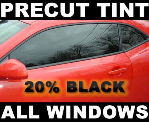 Black 20/% VLT Jeep Wrangler 4dr 07 08 09 2010 2011 2012 2013 PreCut Tint