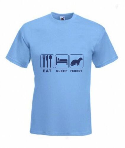 Eat Sleep Ferret  Funny T-shirt in all Sizes /& choice of colours