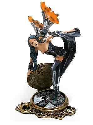 Celestial Steampunk Fairy on Watch Figurine - Entropia