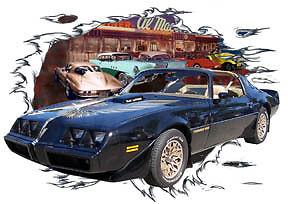 1979-Black-Pontiac-TRANS-AM-Custom-Hot-Rod-Diner-T-Shirt-79-78-Muscle-Car-Tee-039-s
