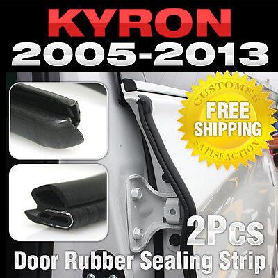 CAR Door Auto Noise Rubber Sealing Strip 2pcs Fit SSANGYONG 2005-2013 Kyron