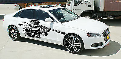 MAN WARRIOR WITH GUN SOLDIER CUSTOM WRAP CAR VINYL SIDE GRAPHICS DECALS S2313
