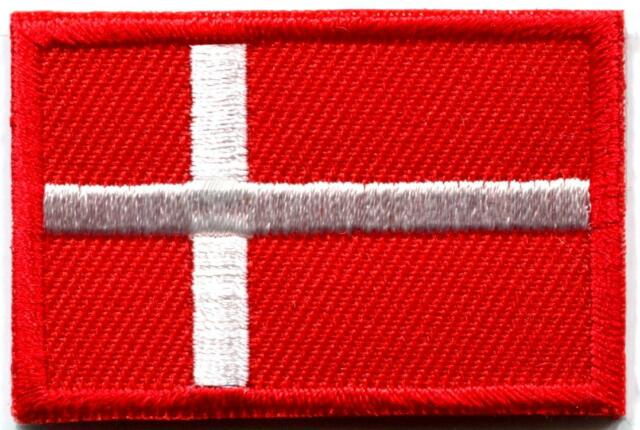Flag of Denmark Danish Danes europe applique iron-on patch new Medium S-767