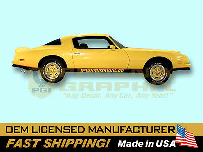 1976 1977 1978 Pontiac Firebird Formula (2-Tone Vehicle) W50 Decals Stripes Kit
