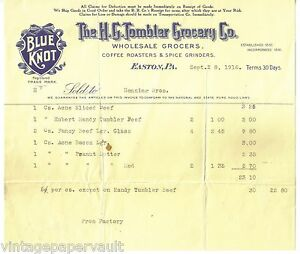 1916-H-G-TOMBLER-GROCERY-CO-BLUE-KNOT-BRAND