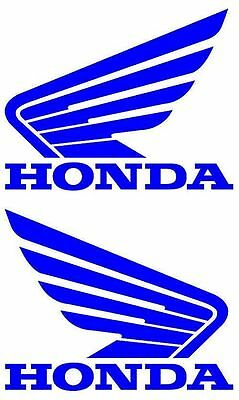 """New Left & Right 5"""" Wide X 4"""" High Honda Wing Vinyl Decals 12 Colors to Choose"""