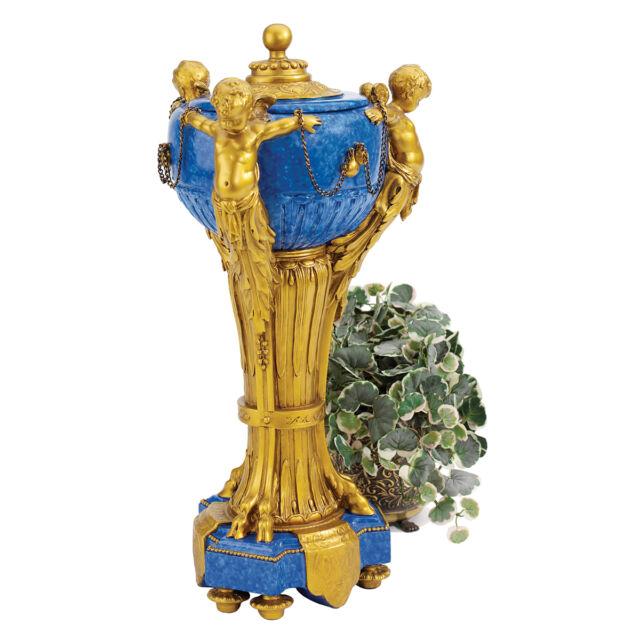French 18th Century Antique Replica Trio of Cherubs Centerpiece Urn