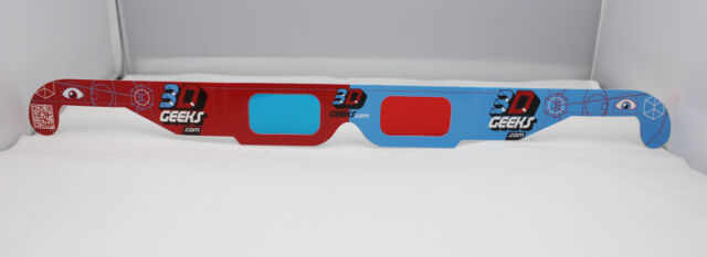 Official 3DGeeks 3D Glasses Red/Blue Red/Cyan Anaglyph. QR Code. FREE SHIPPING!!