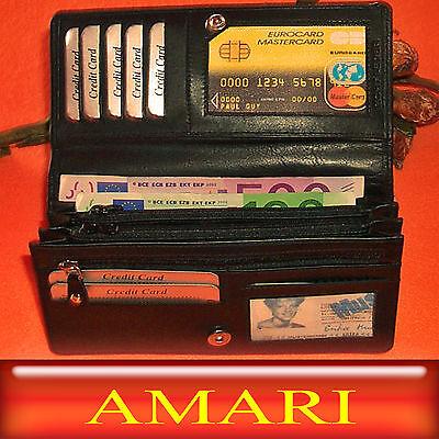 10 Stück / AMARI / XXL - Geldbörse Nappaleder / Portemonnaie Geldtasche / 6130A
