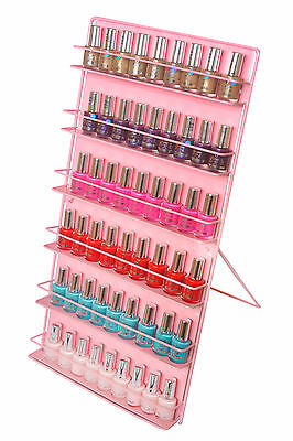 Nail polish storage, pink  ( FREE STANDING OR WALL MOUNT )