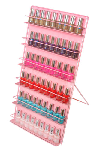Nail polish storage, pink  ( FREE STANDING OR WALL MOUNT )