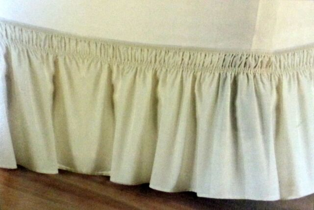 Dainty Home Luxurious Wrap Around Easy Fit Elastic Bed Skirt