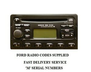 ford radio code unlock 3000-4000-5000-6000 cd radio lost code