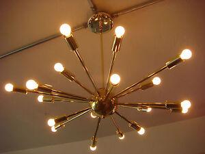 polished brass atomic sputnik starburst light fixture. Black Bedroom Furniture Sets. Home Design Ideas
