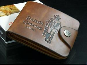 New-Cowboy-Men-039-s-Genuine-Leather-Bifold-Wallet-Multi-Pocket-Purse-Passcase