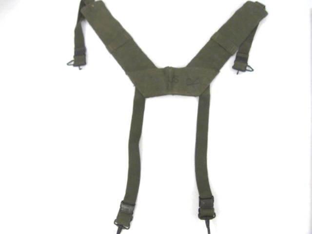 Vietnam Era USMC or US Army M1956 H-Pattern Field Suspenders - Size Reg
