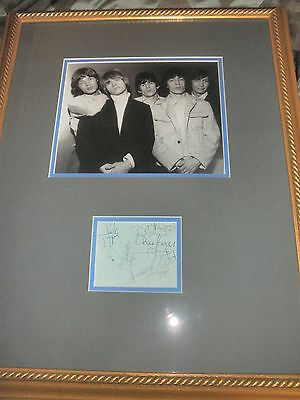 ROLLING STONES SIGNED ALBUM PAGE BY ALL 5! 2 COA'S MICK JAGGER KEITH RICHARDS!!