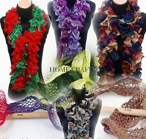 BALLERINA-RUFFLE-Scarf-Wool-Yarn-Full-range-of-colours