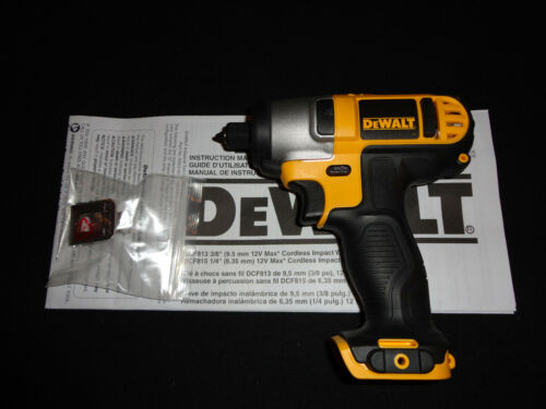 DEWALT DCF815 12 VOLT 1/4 IMPACT DRIVER 12V  NEW W/ BELT HOOK