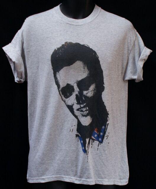Dead Elvis Goth Rock n Roll Psychobilly T shirt Large Grey Punk Rock Festival L