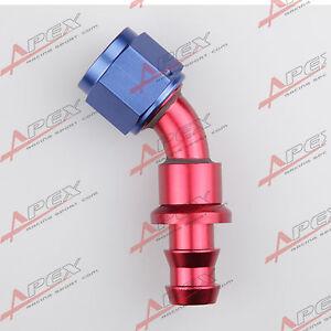 AN10-10-AN-45-GRAD-Push-auf-Schlauch-fuer-Heizoel-Wasserleitung-Schlauchende
