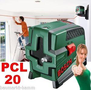 bosch pcl 20 kreuzlinien laser mit lotfunktion. Black Bedroom Furniture Sets. Home Design Ideas