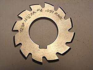 """NOS Decovich Inc. CANADA 2-1/4"""" Dia. Involute Gear Cutter 72 DP 14-1/2 PA #4"""