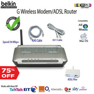 Belkin-ADSL-Wireless-G-Modem-Router-F5D7632-for-BT-Line