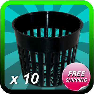 "3"" INCH MESH NET POT CUP (QTY 10) HYDROPONIC AEROPONIC CUPS- FREE SHIPPING"