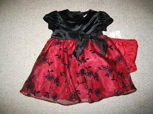 Baby Gap Dress Red Velvet Satin
