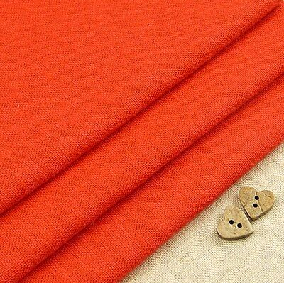 Robert Kaufman Essex Carrot Orange Linen Blend Fabric / dressmaking fox squirrel