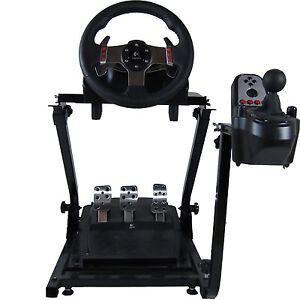 gt omega lenkrad stand logitech g25 g27 thrustmaster. Black Bedroom Furniture Sets. Home Design Ideas