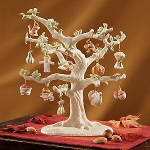 Lenox-Set-of-12-Ornaments-TREE-Autumn-Delight-Delights-Turkey-NIB
